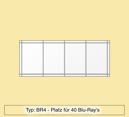 blu ray regal aus plexiglas f r 40 blu ray 39 s br4. Black Bedroom Furniture Sets. Home Design Ideas