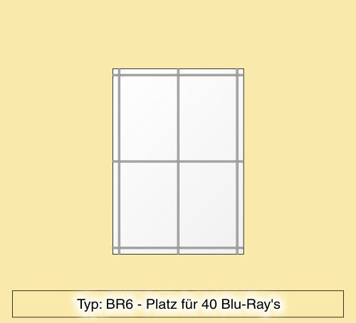 blu ray regal aus plexiglas f r 40 blu ray 39 s br6 ebay. Black Bedroom Furniture Sets. Home Design Ideas