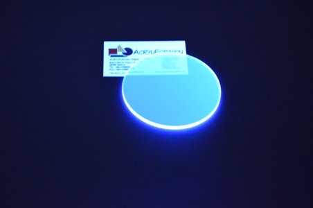 acrylglas zuschnitt rund 3 mm stark farbe fluorescent blau gp max 353 73 m ebay. Black Bedroom Furniture Sets. Home Design Ideas