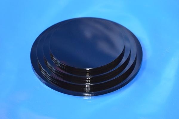 plexiglas standfu f r rohr in schwarz rund ebay. Black Bedroom Furniture Sets. Home Design Ideas