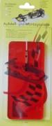 Aufstellplatte für 1:32 Slotcars Farbe Rot