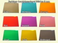 Acrylglasspiegel, Farbig, Sägeschnitt