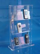 Standvitrine aus Plexiglas® für 12 Handys