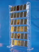Standvitrine aus Plexiglas® für 30 Zippos / Benzinfeuerzeuge