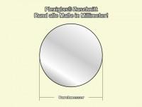 Acrylglasspiegel, Silber 2mm Stark, Rund