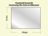Acryl- / Plexiglas ® XT, Rechteckig, Transparent, 2 mm Stark Antireflex 0A570AR Sägeschnitt