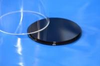 Plexiglas® Boden für Rohr Farbe Schwarz