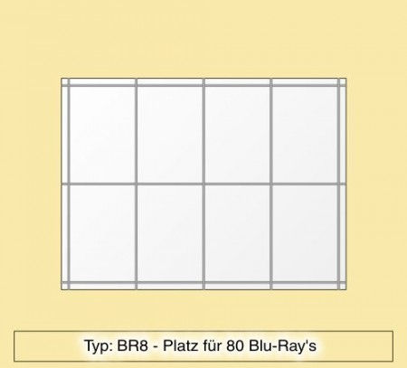 blu ray regal aus plexiglas f r 80 blu ray 39 s br8 br8. Black Bedroom Furniture Sets. Home Design Ideas