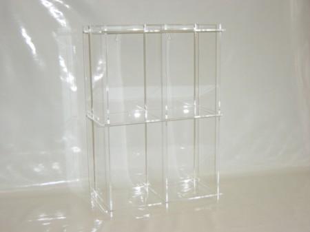 dvd regal aus acryl plexiglas f r 36 dvd 39 s dvd1 dvd1. Black Bedroom Furniture Sets. Home Design Ideas