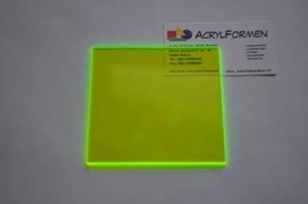acrylglas fluorescent gr n 3 mm stark s geschnitt. Black Bedroom Furniture Sets. Home Design Ideas