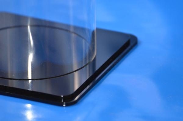 plexiglas boden f r rohr ausf hrung mit nut schwarz quadrat ebay. Black Bedroom Furniture Sets. Home Design Ideas