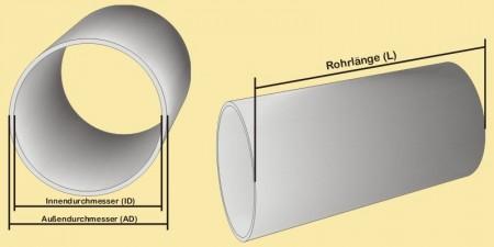 Relativ Plexiglas®rohr AD=250; ID=242 mm TS86